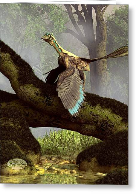 Triassic Greeting Cards - The Last Dinosaur Greeting Card by Daniel Eskridge