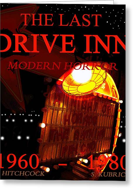 1980 Digital Greeting Cards - The Last Drive Inn Greeting Card by David Lee Thompson