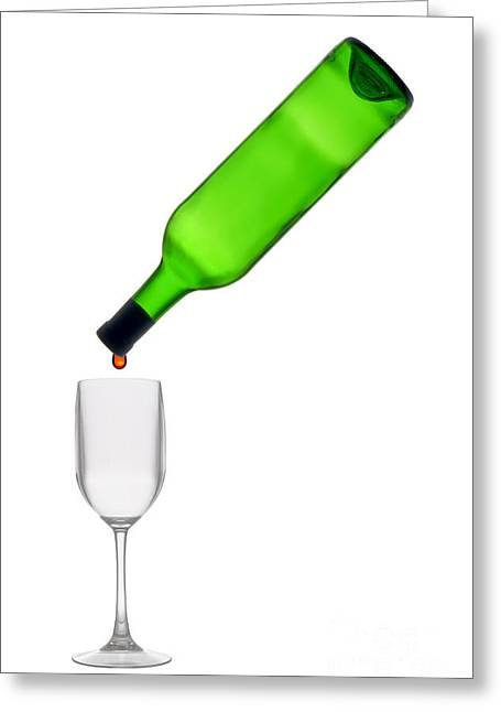 Wine Pour Greeting Cards - The Last Drop Greeting Card by Olivier Le Queinec