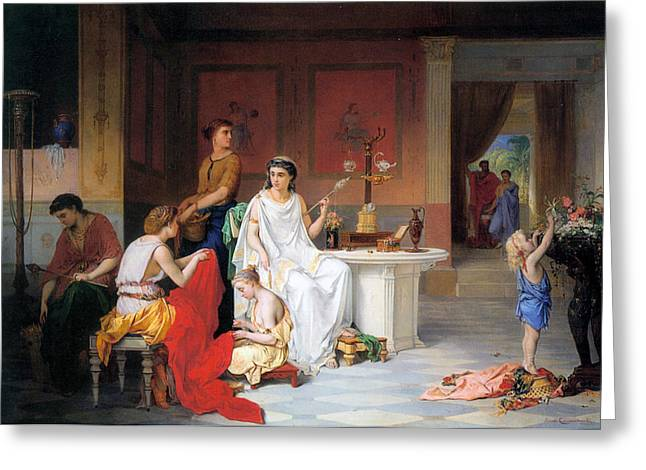 The Last Hour Of Pompeii Greeting Card by Pierre Coomans