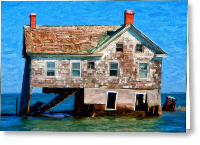 Delmarva Greeting Cards - The Last House on Holland Island Greeting Card by Michael Pickett
