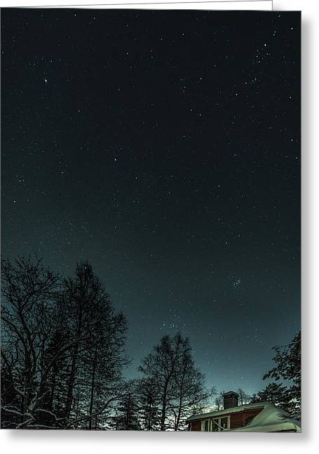 Winter Night Greeting Cards - The Last House On The Left Greeting Card by Erik Brede