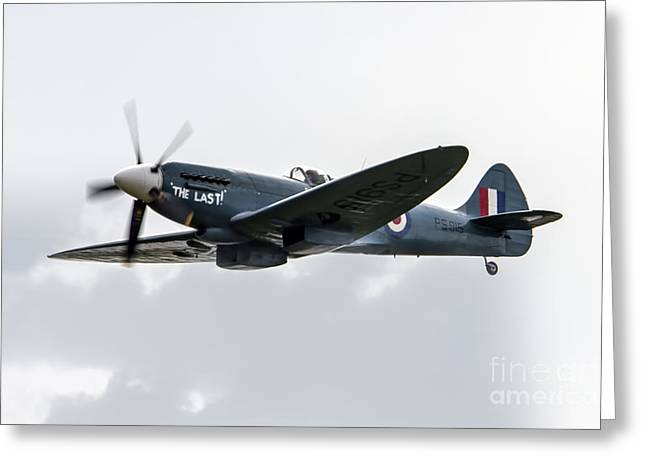 Spitfire Greeting Cards - The Last Greeting Card by J Biggadike
