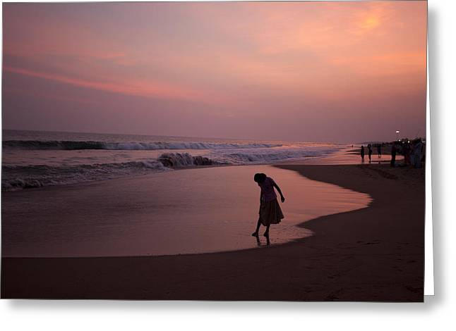 Tranquil Scene Escapism Greeting Cards - The last Light Greeting Card by Partha Pal