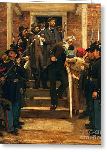 Abolitionist Paintings Greeting Cards - The Last Moments Of John Brown Greeting Card by Pg Reproductions