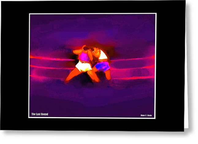 Punch Mixed Media Greeting Cards - The Last Round  3 C Greeting Card by Diane Strain