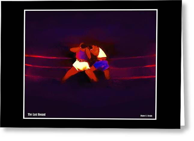 Punch Mixed Media Greeting Cards - The Last Round  5 C Greeting Card by Diane Strain