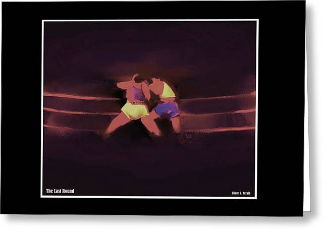Punch Mixed Media Greeting Cards - The Last Round  6 C Greeting Card by Diane Strain