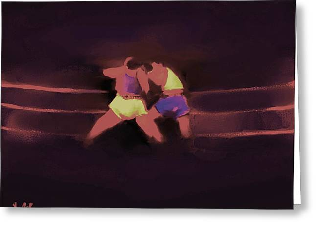Punch Mixed Media Greeting Cards - The Last Round  #6 Greeting Card by Diane Strain