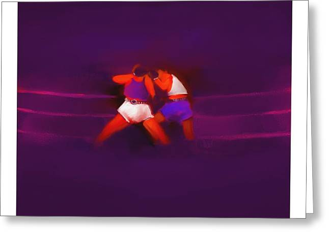 Punch Mixed Media Greeting Cards - The Last Round  7 B Greeting Card by Diane Strain