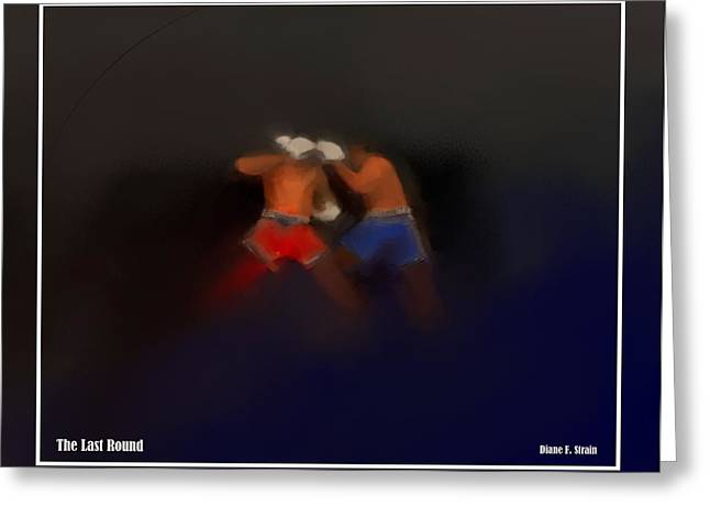Punch Mixed Media Greeting Cards - The Last Round  #8 Greeting Card by Diane Strain
