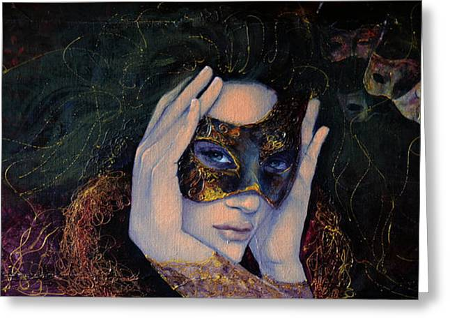 Carnivale Greeting Cards - The Last Secret Greeting Card by Dorina  Costras