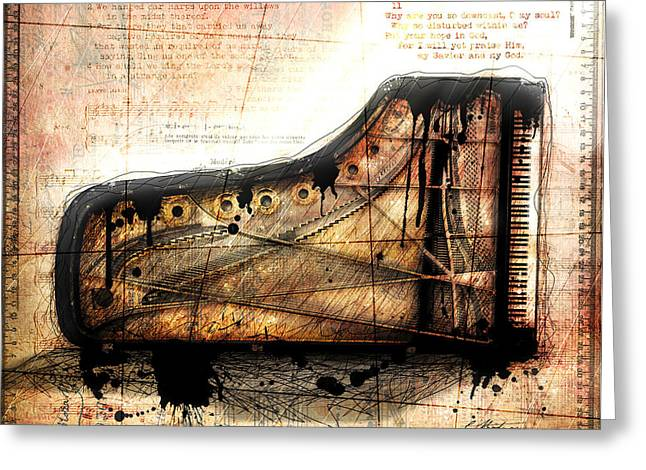 Piano Digital Art Greeting Cards - The Last Sonata Greeting Card by Gary Bodnar