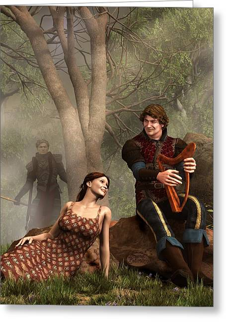 Music Lover Digital Greeting Cards - The Last Song of Tristan Greeting Card by Daniel Eskridge