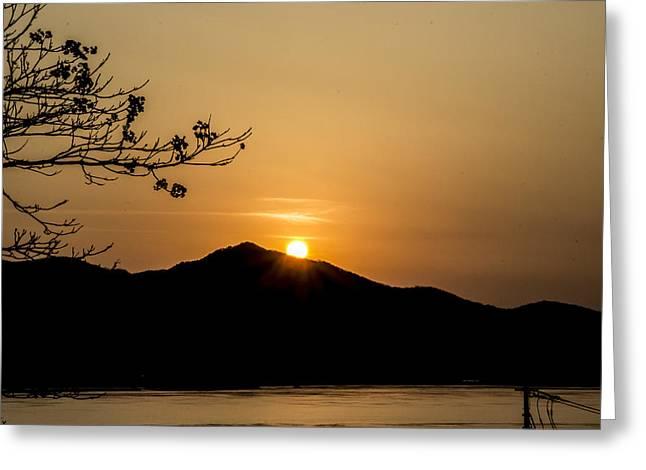 The Last Sunset Of 2013. Greeting Card by John Seung-Hwan Shin