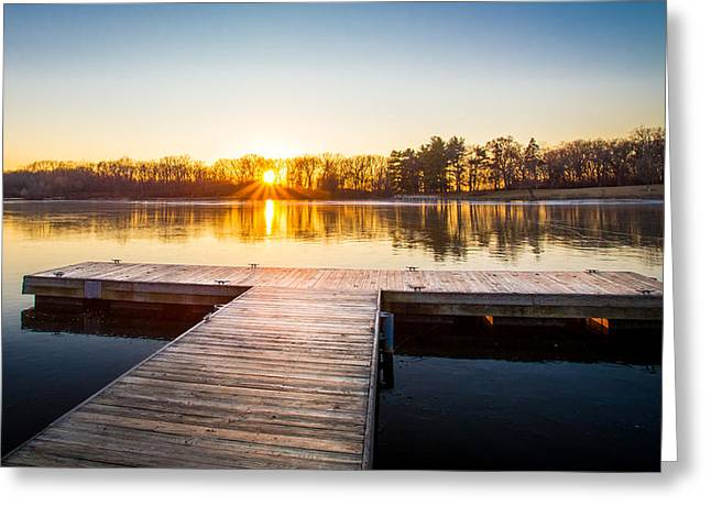 Herrick Lake Greeting Cards - The Last Sunset of 2014 Greeting Card by Kevin Rodde