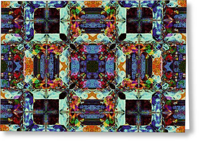 Last Supper Greeting Cards - The Last Supper Abstract 20130130p0 Greeting Card by Wingsdomain Art and Photography