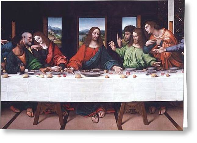 The Last Supper - After Da Vinci Greeting Card by Pg Reproductions
