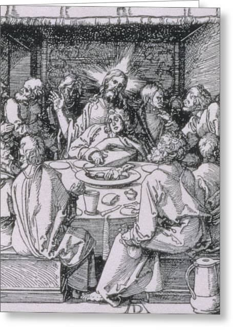 Last Supper Greeting Cards - The Last Supper Greeting Card by Albrecht Durer or Duerer