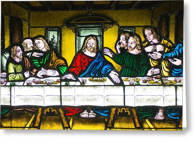 The Church Greeting Cards - The Last Supper Greeting Card by Boyd Alexander