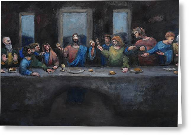 Last Supper Greeting Cards - The Last Supper Greeting Card by Carole Foret