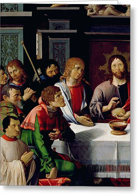 The Followers Greeting Cards - The Last Supper Greeting Card by French School