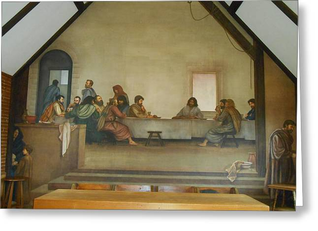 Last Supper Greeting Cards - The Last Supper Frescoe  Greeting Card by Diannah Lynch