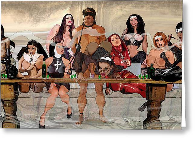 Straps Greeting Cards - The Last Supper Greeting Card by Ian Wilson