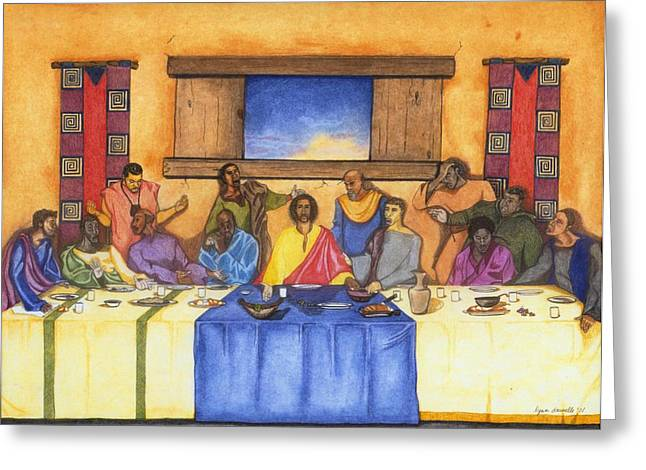 Last Supper Greeting Cards - The Last Supper II Greeting Card by Lynn Darnelle
