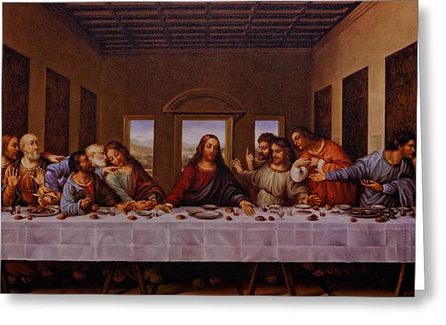 Judas Greeting Cards - The Last Supper Greeting Card by Jonathan Davison