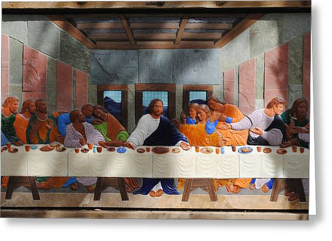 Last Supper Mixed Media Greeting Cards - The Last Supper Greeting Card by Lance Jost