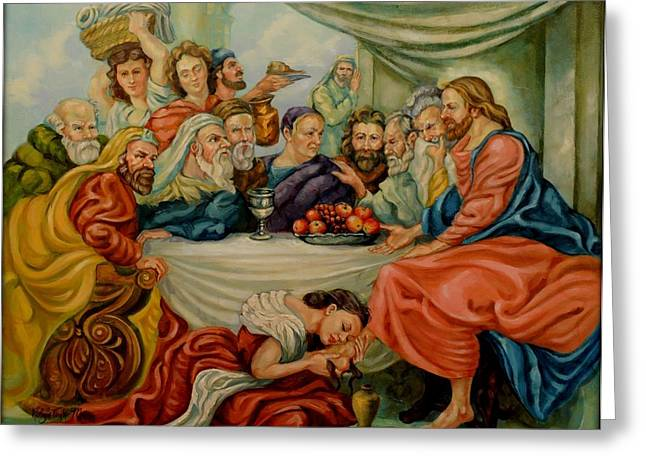 Last Supper Greeting Cards - The Last Supper Greeting Card by Robyn Maus
