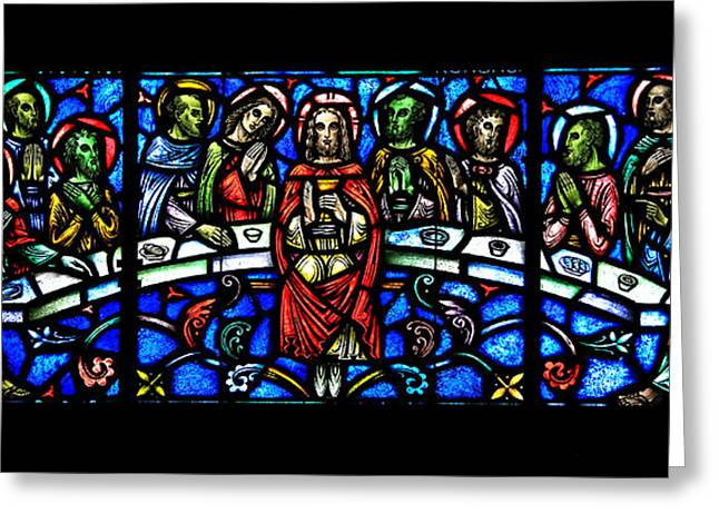 Grail Greeting Cards - The Last Supper Greeting Card by Stephen Stookey