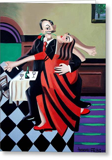 The Last Tango Greeting Card by Anthony Falbo