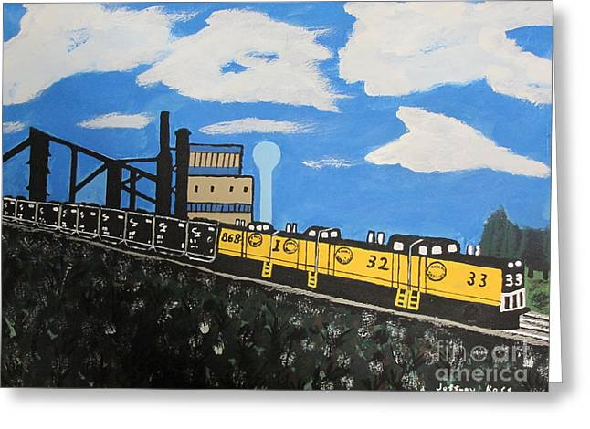 Cambria Greeting Cards - The Last Train Greeting Card by Jeffrey Koss