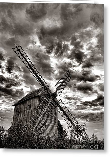 Windmills Greeting Cards - The Last Windmill Greeting Card by Olivier Le Queinec