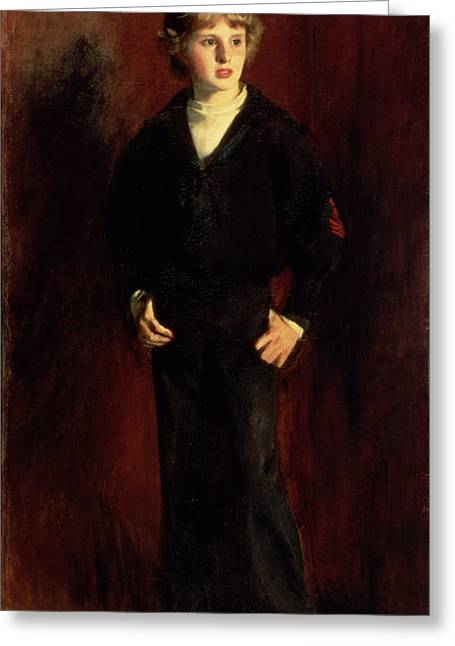 Youth Paintings Greeting Cards - The Late Major E.c. Harrison As A Boy Greeting Card by John Singer Sargent