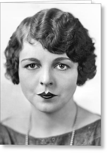 The Latest Fad In Lip Makeup Greeting Card by Underwood Archives