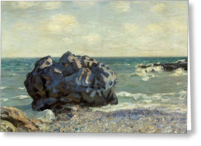 1874 Greeting Cards - The Laugland Bay Greeting Card by Alfred Sisley
