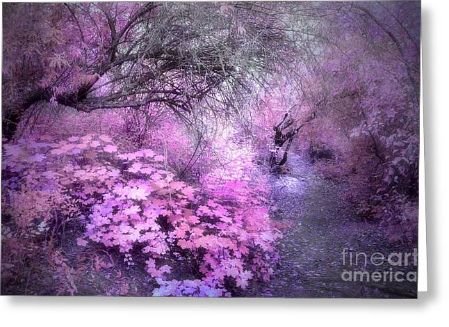 Soft Light Greeting Cards - The Lavender Dreams of Trees Greeting Card by Tara Turner