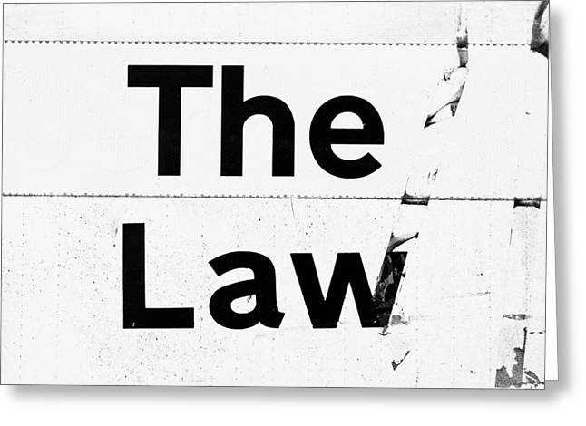 Solicitor Greeting Cards - The Law Greeting Card by Tom Gowanlock