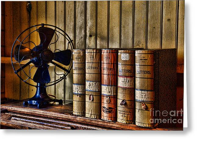 Transactions Greeting Cards - The Lawyers Desk Greeting Card by Paul Ward