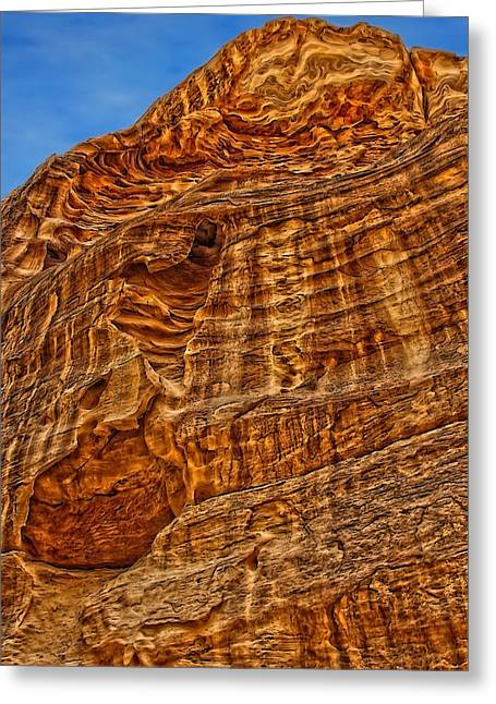 Petra Greeting Cards - The Layered Sandstone formation. Greeting Card by Vladimir Rayzman