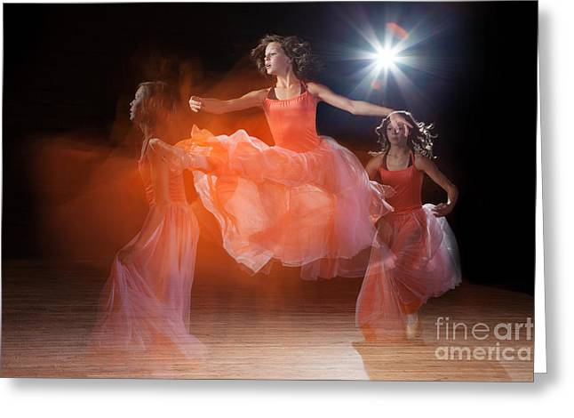Ballet Dancers Photographs Greeting Cards - The Leap Greeting Card by Cindy Singleton