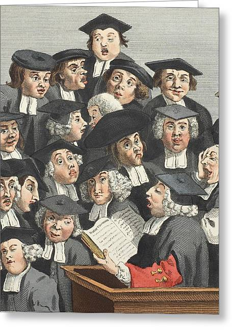 Florida State Drawings Greeting Cards - The Lecture, Illustration From Hogarth Greeting Card by William Hogarth
