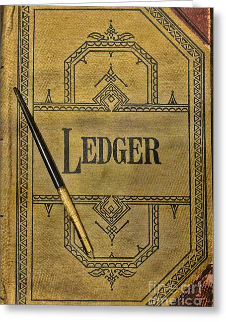 Bookkeeping Greeting Cards - The Ledger Greeting Card by Paul Ward