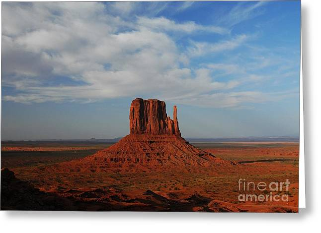 Monolith Greeting Cards - The Left Mitten Greeting Card by Mel Steinhauer