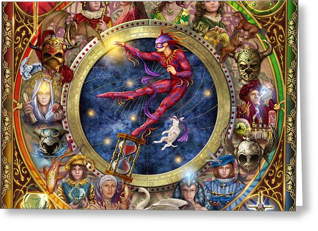 Celestial Digital Greeting Cards - The Legacy of the Devine Tarot Greeting Card by Ciro Marchetti