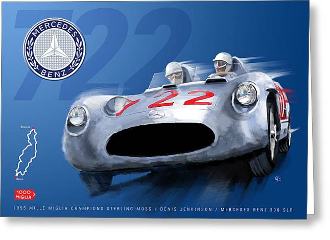 Stirling Moss Greeting Cards - The Legend Of 722 Greeting Card by Ron Riffle