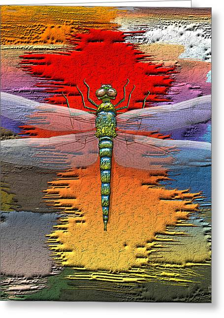 Ultra Modern Greeting Cards - The Legend of Emperor Dragonfly Greeting Card by Serge Averbukh